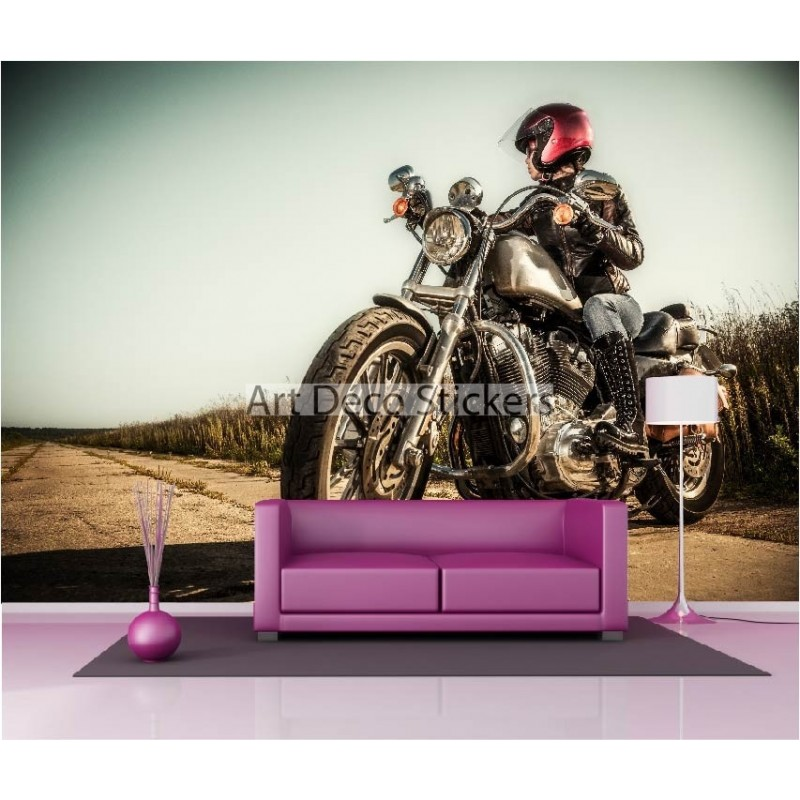 stickers muraux g ant d co moto stickers muraux deco. Black Bedroom Furniture Sets. Home Design Ideas