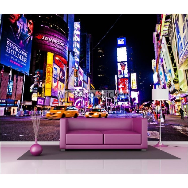 Stickers muraux g ant d co new york la nuit stickers muraux deco - Sticker geant new york ...
