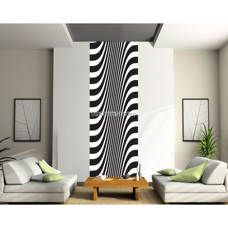 papier peint l unique noir et blanc stickers muraux deco. Black Bedroom Furniture Sets. Home Design Ideas