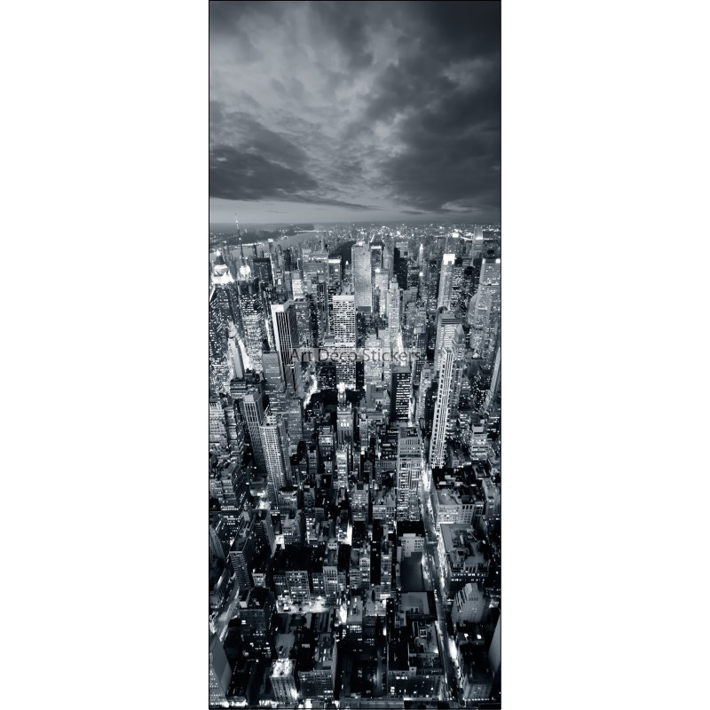 Sticker frigo d co cuisine new york noir et blanc for Deco cuisine new york