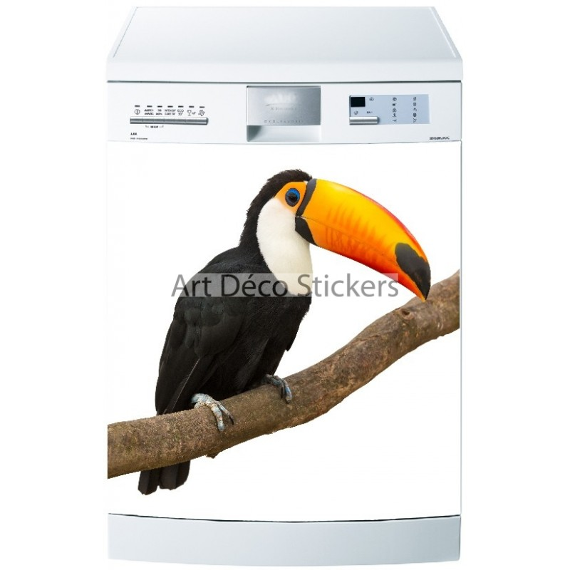 sticker lave vaisselle ou magnet oiseau toucan stickers muraux deco. Black Bedroom Furniture Sets. Home Design Ideas