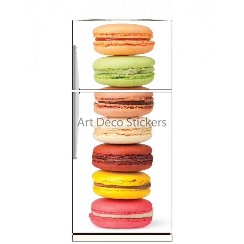 sticker frigo d co cuisine macarons stickers muraux deco. Black Bedroom Furniture Sets. Home Design Ideas