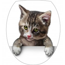 Sticker pour abattant de WC 35x42cm Chat