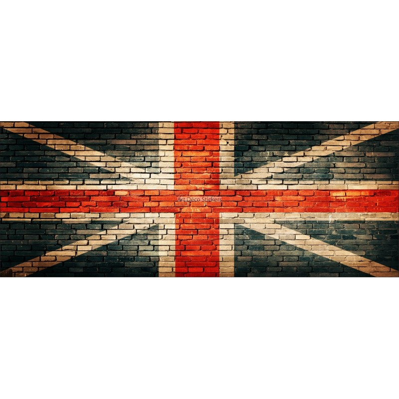 brise vue d co imprim union jack stickers muraux deco. Black Bedroom Furniture Sets. Home Design Ideas