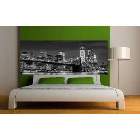 Stickers headboard bed deco room new york ebay - Stickers muraux deco ...