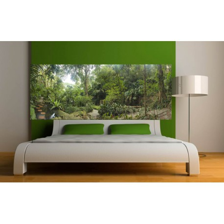 Stickers t te de lit d co chambre for t stickers muraux deco - Stickers muraux tete de lit ...