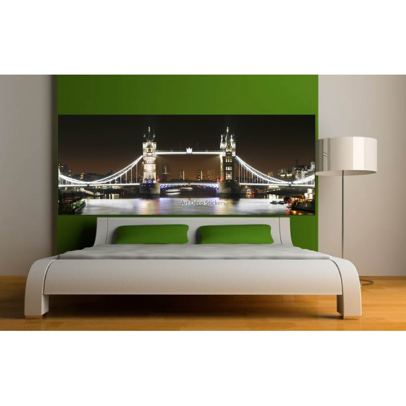 stickers t te de lit d co chambre londres stickers muraux deco. Black Bedroom Furniture Sets. Home Design Ideas