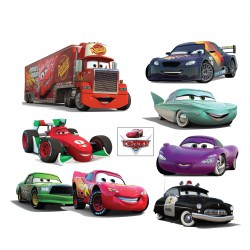 Planche Stickers autocollantsx enfant Disney Cars 32x26cm