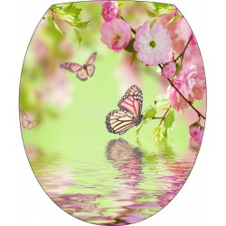Stickers pour de WC 35x42cm Papillon 7319