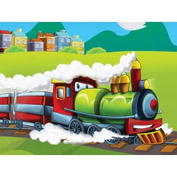 Stickers autocollant ou Affiche poster Le Petit Train EN_00023