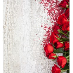 Stickers autocollant ou Affiche poster Roses Rouge FL_00050