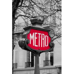 Stickers autocollant ou Affiche poster Metro N&B_ 00005
