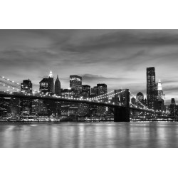 Stickers autocollant ou Affiche poster Pont Manhattan N&B_ 00007