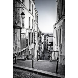 Stickers autocollant ou Affiche poster Belle Ruelle N&B_ 00026