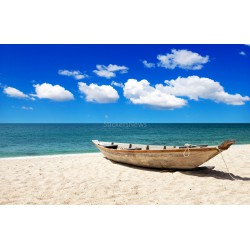 Stickers autocollant ou Affiche poster Tropical Beach Pirogue NP_00033