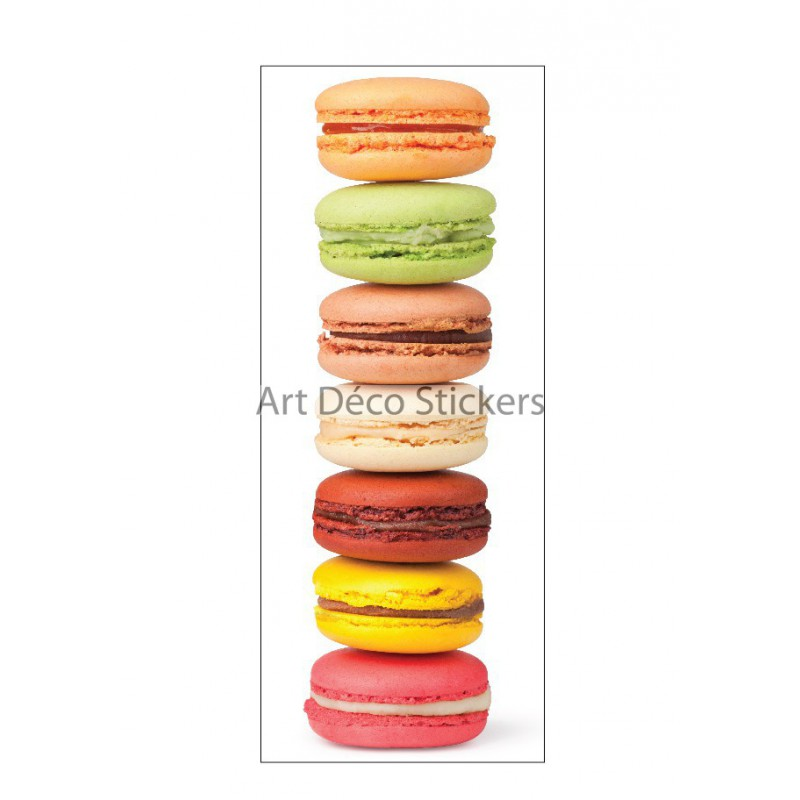 Stickers porte d co cuisine macarons r f 9511 stickers for Poster deco cuisine