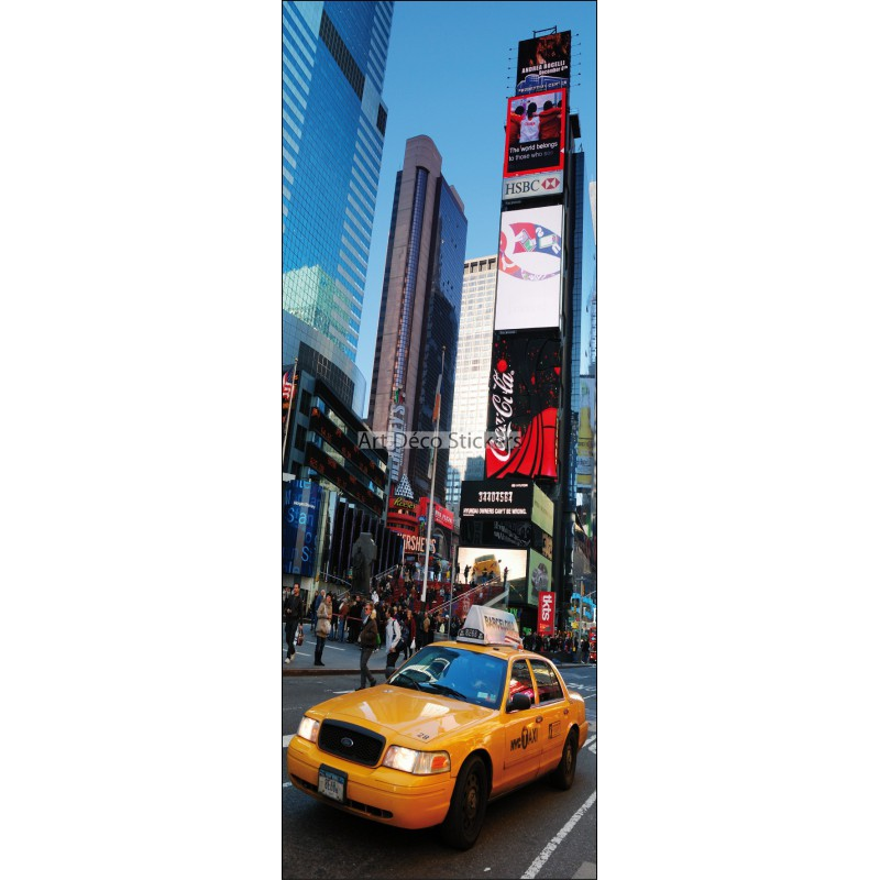 Stickers porte d co new york taxi r f 212 stickers for Deco taxi new york