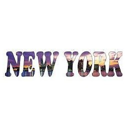 Sticker mural New York 200x43cm réf 788