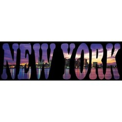Sticker mural New York 130x41cm réf 790
