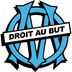 Stickers foot OM Olympique de Marseille