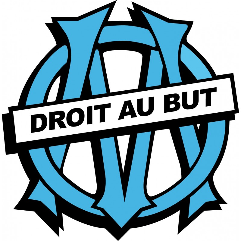 Stickers foot om olympique de marseille stickers muraux deco - Marseille logo foot ...