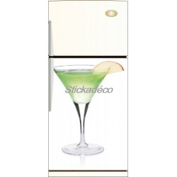 Sticker frigidaire Cocktail Citron Vert