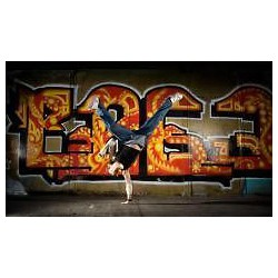 Sticker mural graffiti tag Hip Hop 120x70cm