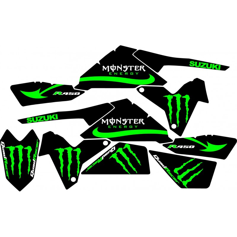 Pin autocollants moto stickers sticker autocollant monster for Autocolant mural