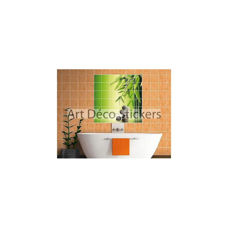 Sticker galet salle bain stickers galets orchide with for Salle bain galet