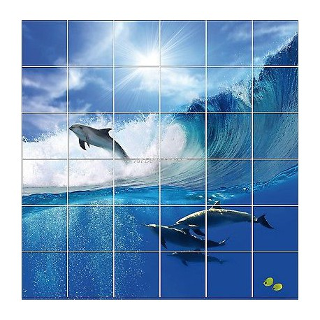 Sticker carrelage mural faience d co cuisine ou salle de for Faience salle de bain nature